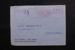 ITALIE - Enveloppe Commerciale De Milano Pour La Suisse En 1941 Avec Contrôle Postal - L 47926 - 1900-44 Victor Emmanuel III