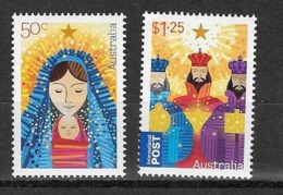 Australie N°3183 à 3184** Vierge Et L'enfant Et Rois Mages - Christmas
