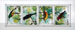 MDB-BK2-137-2 MINT ¤ MAYOTTE 2002 4w In Serie ¤ BIRDS OF THE WORLD VOGELS - OISEAUX - VÖGEL - VOGELS - AVES - Songbirds & Tree Dwellers