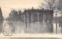 75 - PARIS 7 ème ( Inondations 1910 - Crues De La Seine ) La GARE Des Invalides ( Cachet PARIS CENTRE Au Recto )  CPA - Alluvioni Del 1910