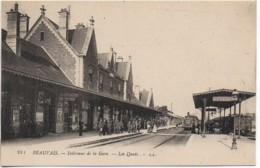 60 BEAUVAIS  Intérieur De La Gare   - Les Quais - Estaciones Con Trenes