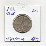 "Germania - 1938 - 2 Reichsmark - ""D"" - Argento - (MW2668) - [ 4] 1933-1945 : Troisième Reich"