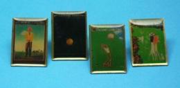 4 PIN'S //  ** GOLF / TROPHÉE LANCÔME / N° 11 / 16 / 18 / 21 ** - Golf
