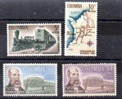 Colombia Serie Completa Aéreo N ºYvert 423/26 ** TRENES (TRAIN) Valor Catálogo 12.0€ - Colombia