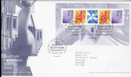 Great Britain FDC 2004 Scottish Parliament Building Souvenir Sheet - Edinburgh (NB**LAR8-61A) - FDC