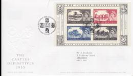 Great Britain FDC 2005 The Castle Definitive Souvenir Sheet - Tallents House (NB**LAR8-61A) - Briefmarken Auf Briefmarken