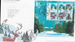 Great Britain FDC 2006 Christmas Souvenir Sheet   (NB**LAR8-61A) - Christmas