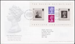 Great Britain FDC 2007 The Machin Definitives Fortieth Anniversary Souvenir Sheet - Windsor (NB**LAR8-61A) - Briefmarken Auf Briefmarken