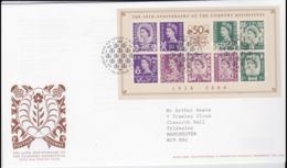 Great Britain FDC 2008 The 50th Anniversary Of The Country Definitives Souvenir Sheet (NB**LAR8-61A) - Briefmarken Auf Briefmarken