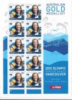 Australie N°3226** Jeux Olympiques D'hiverTorah Bright En Feuille De 10 Timbres - Winter 2010: Vancouver
