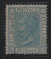 1867 Vittorio Emanuele II 20 C. Azzurro Nuovo SG - 1861-78 Victor Emmanuel II.