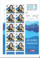 Australie N°3227** Jeux Olympiques D'hiver Lydia Lassila En Feuille De 10 Timbres - Winter 2010: Vancouver