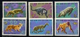 NORD VIETNAM, NORTH VIET-NAM 1967, Yv. 535/40, FAUNE SAUVAGE, 6 Valeurs,  Oblitérés / Used. R296 - Sonstige