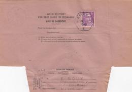 AVIS DE RECEPTION LETTRE. RECETTE AUXILIAIRE URBAINE ST ETIENNE E. GANDON 10F, N° 811 SEUL - Poststempel (Briefe)