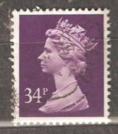 Great Britain: 1 Used Stamp From A Set, 1991, Mi#1359 - Série 'Machin'