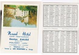 Calendrier De Poche 1964  Poligny   Jura - Calendriers