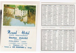 Calendrier De Poche 1964  Poligny   Jura - Petit Format : 1961-70