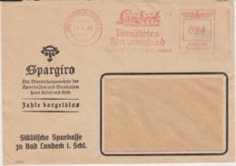 DR 3 Reich Freistempel Bf Bad Landeck Ostgebiete Schlesien 1942 - Germania