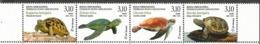 BHHB 2019-17 FAUNA TURTLES, BOSNA AND HERCEGOVINA HERCEGBOSNA CROAT, 4v, MNH - Schildpadden