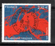 France 2019.Fabienne Verdier.cachet Rond.Gomme D'Origine. - Frankreich