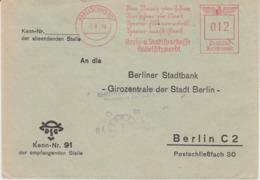DR 3 Reich Freistempel Bank Bf Habelschwerdt Ostgebiete Schlesien 1940 - Germania