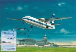 D38613 CARTE MAXIMUM CARD RR FD 2019 NETHERLANDS - FOKKER 27 - SCHIPHOL 100 YEARS AVIATION CP ORIGINAL - Flugzeuge