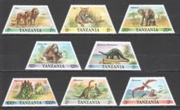 D680 1988 TANZANIA ANIMALS & FAUNA DINOSAURS OF AFRICA #422-9 1SET MNH - Stamps