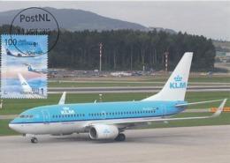 D38614 CARTE MAXIMUM CARD RR FD 2019 NETHERLANDS - BOEING 737 - WINGLET - SCHIPHOL 100 YEARS AVIATION CP ORIGINAL - Flugzeuge