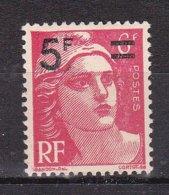 N° 827 Timbre De 1945-47 Marianne De Gandon Surchargé: 1 Timbre Neuf Impeccable Sans Charnière - France