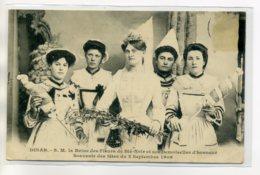 22 DINAN Carte Rare  Fetes 2 SEpt 1906 REine Des Fleurs De Blé Noir Et Demoiselle D'Honneur   /D05-S2017 - Dinan