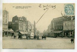 59 ROUBAIX  PLace Et Rue De La Gare  TRamway Double Carioles 1905 Timb   /D05-2017 - Roubaix