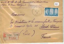 Lettre Recommandée ALGERIE - Voyagée De Oran à St Etienne En 1930 - Algerien (1924-1962)