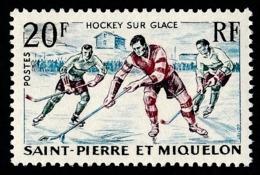 ST-PIERRE ET MIQUELON 1959 - Yv. 360 *   Cote= 4,00 EUR - Sport. Hockey Sur Glace  ..Réf.SPM11739 - St.Pierre & Miquelon
