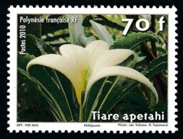 POLYNESIE 2010 - Yv. 904 **   Faciale= 0,59 EUR - Fleur Tiare Apetahia Raiateensis  ..Réf.POL24870 - Französisch-Polynesien