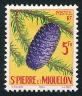 ST-PIERRE ET MIQUELON 1958 - Yv. 359 *   Cote= 4,80 EUR - Arbre Picea  ..Réf.SPM11738 - St.Pierre & Miquelon
