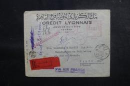 EGYPTE - Enveloppe Commerciale En Recommandé Du Caire Pour La France En 1951, Affranchissement Mécanique - L 47947 - Covers & Documents