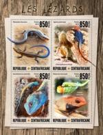Central Africa. 2019 Lizards. (0808a)  OFFICIAL ISSUE - Reptielen & Amfibieën