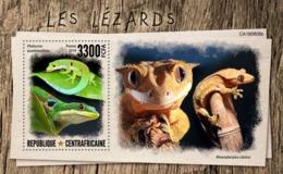 Central Africa. 2019 Lizards. (0808b)  OFFICIAL ISSUE - Reptielen & Amfibieën