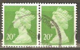 Great Britain: Pair Used Stamps From A Set, 1996, Mi#1630(2) - Machins