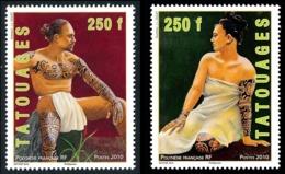 POLYNESIE 2010 - Yv. 902 Et 903 **   Faciale= 4,20 EUR - Tatouages Sur Femme Et Homme (2 Val.)  ..Réf.POL24868 - Polynésie Française