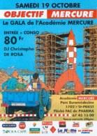 TINTIN : Flyer OBJECTIF MERCURE - Hergé