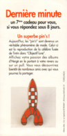 TINTIN : Flyer Pin's FUSEE TINTIN - Hergé