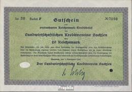 Deutsches Reich 20 Reichsmark, Gutschein Sehr Schön 1932 Landwirts. Kreditverein Sachsen - 1918-1933: Weimarer Republik
