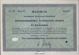 Deutsches Reich 85 Reichsmark, Gutschein Druckfrisch 1932 Landwirts. Kreditverein Sachsen - 1918-1933: Weimarer Republik