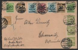 1923 Dt.Reich - MiF MI. 275, 281,285(2), 295, 306(2),316(3) BERLIN N CHEMNITZ - Deutschland