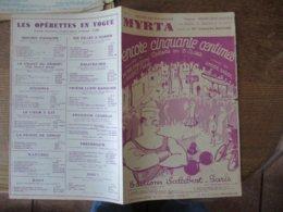 """MYRTA DE L'OPERETTE """"ENCORE CINQUANTE CENTIMES"""" PAROLES DE ANDRE BARDE MUSIQUE DE MAURICE YVAIN - Noten & Partituren"""