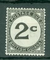 British Guiana: 1940/55   Postage Due     SG D2a   2c    [Chalk]  MH - Guyane Britannique (...-1966)