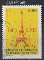 FRANCE ANNEE 2003 N° 3545   OBLITERE - France
