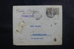 ITALIE - Enveloppe Commerciale En Recommandé De Milano Pour La France En 1924 ,affranchissement Perforés - L 47960 - 1900-44 Victor Emmanuel III