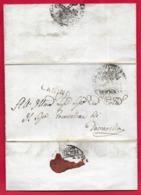 PREFILATELICA PONTIFICIO - 1832 - Da CANINO A TOSCANELLA - Bollo Postale CANINO Scalpellato Bollo Sigillo Priore Canino - 1. ...-1850 Prephilately